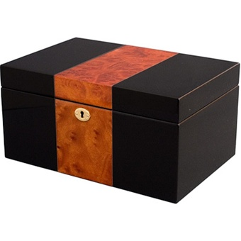 Amazon.com: Watch Box in Burlwood Oak - Peyton - Jewelry Boxes by