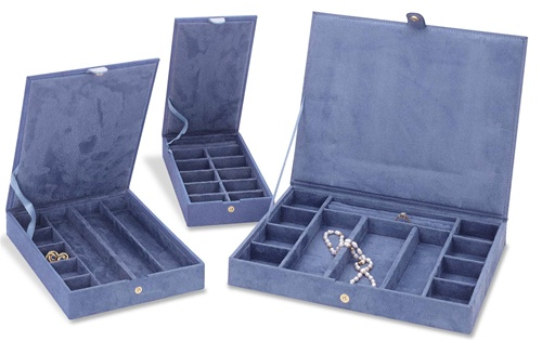 3 stackable anti tarnish jewelry storage boxes cases ebay