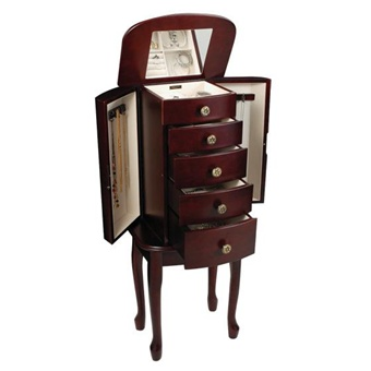 free standing jewelry armoire. Black Bedroom Furniture Sets. Home Design Ideas