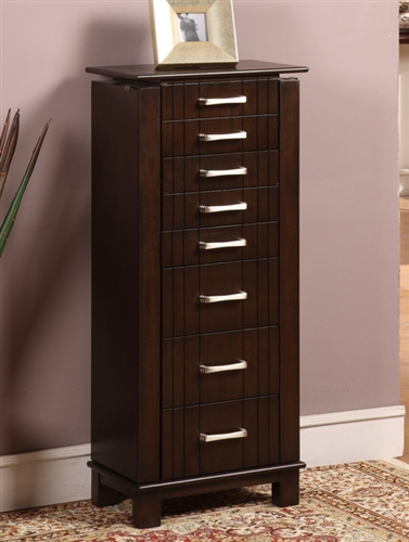 Large Jewelry Armoire Floor Cabinet with Seven Drawers and ...