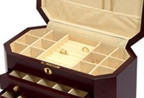 dresser top jewelry box features