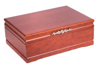 Solid cherry wood jewelry chest for Solid wood jewelry chest