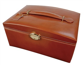 leather jewelry box locking travel jewelry case